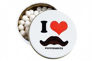 I Love Moustache Peppermints
