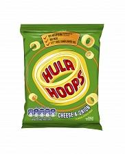 Hula Hoops Cheese & Onion Potato Rings (32 x 34g)