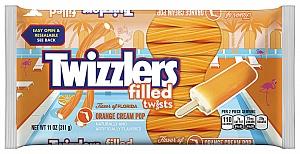Twizzlers Orange Cream Pop Filled Twists (12 x 311g)